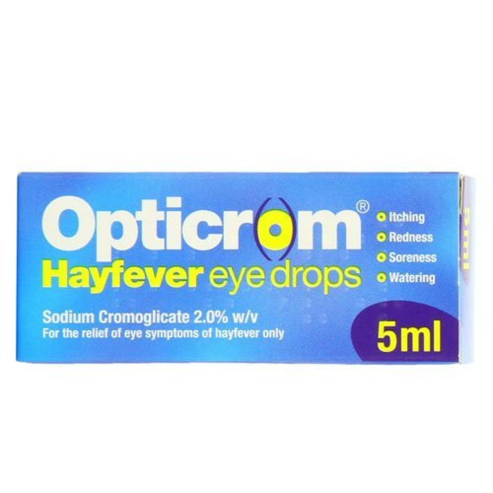 Opticrom Hayfever Eye Drops 5ml