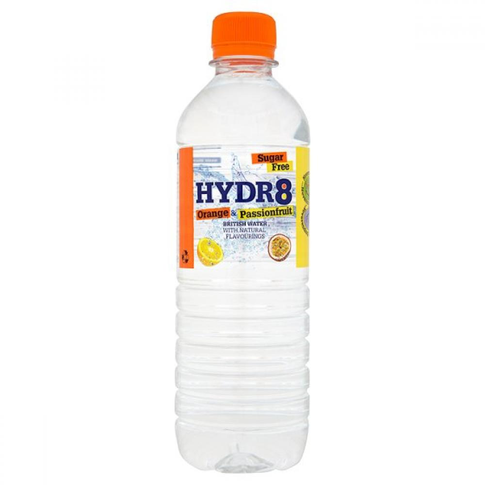 Hydr8 Orange and Passionfruit Flavour Water 500ml