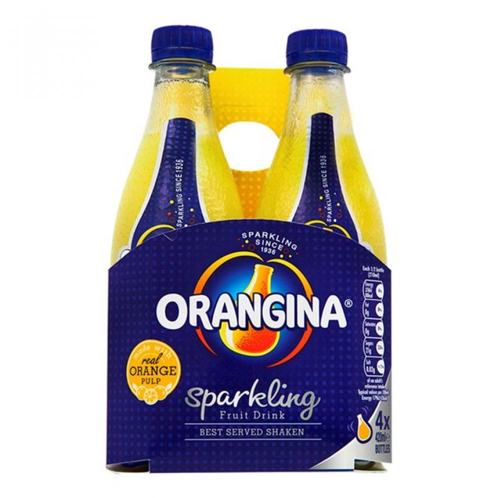 Orangina Sparkling Orange Drink 420ml x 4