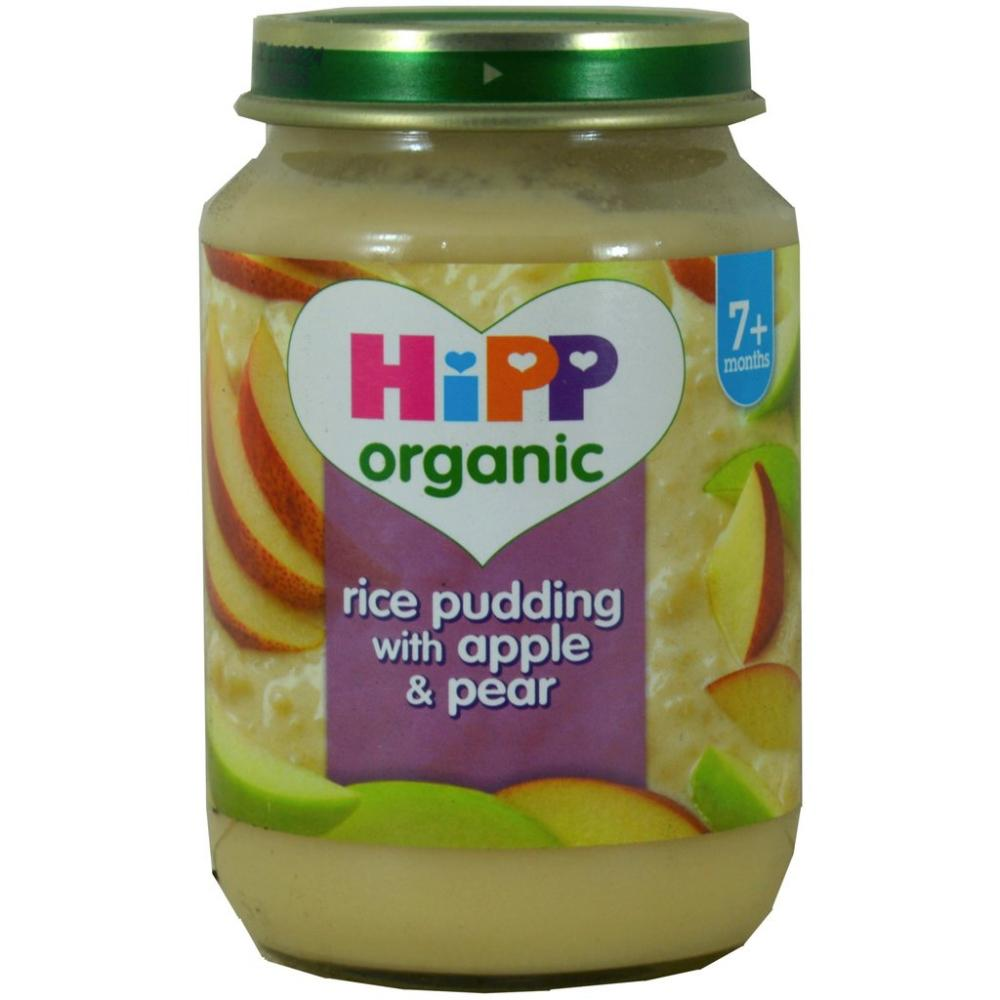 Hipp Organic Rice Pudding with Apple and Pear 190g