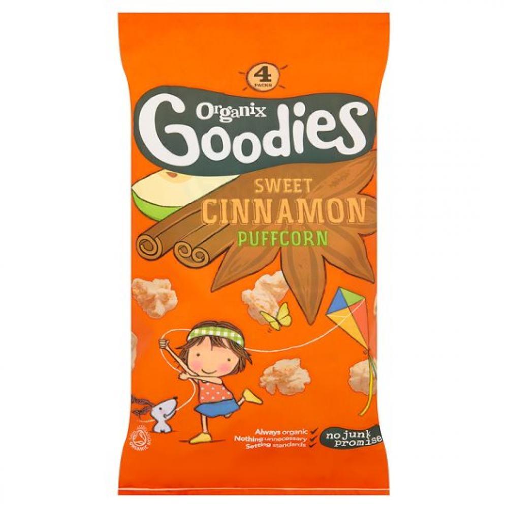 Organix Goodies Sweet Cinnamon Puffcorn 10g x 4