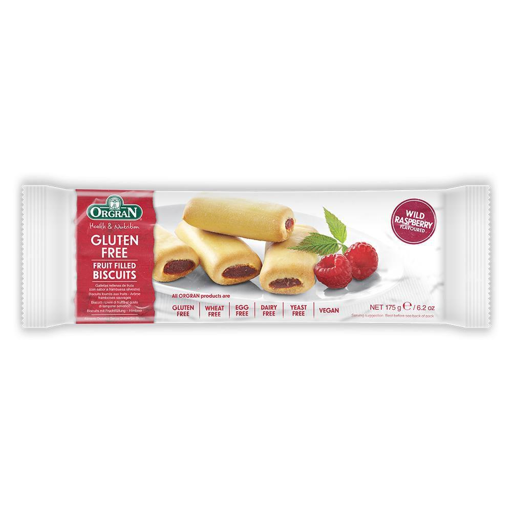 Orgran Gluten Free Fruit Filled Biscuits Wild Raspberry Flavoured 175g