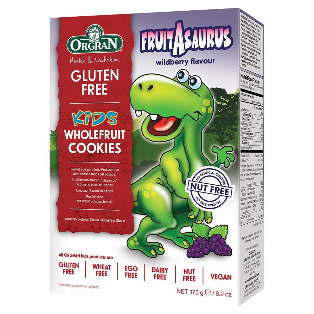 Orgran Kids Dinosaur Wholefruit Cookies 175g