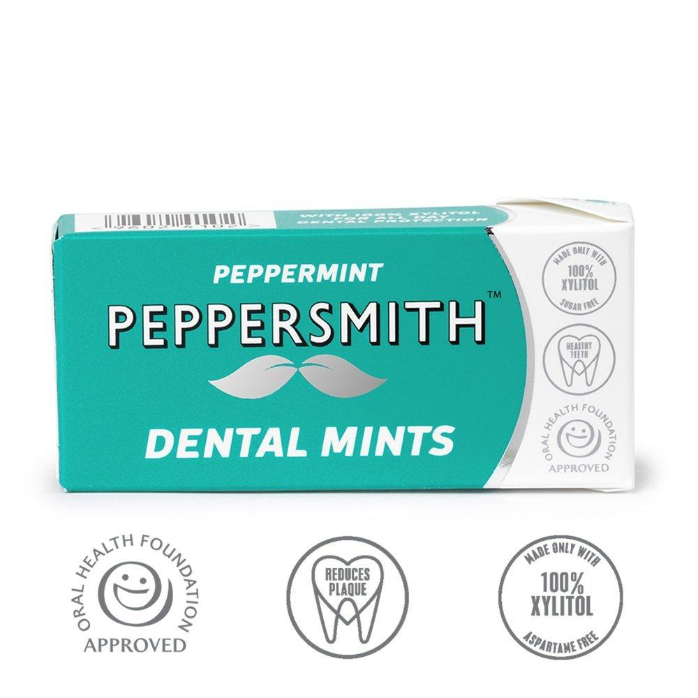 Peppersmith 100 Xylitol Mints Fine English Peppermint 25 Mints 15 g