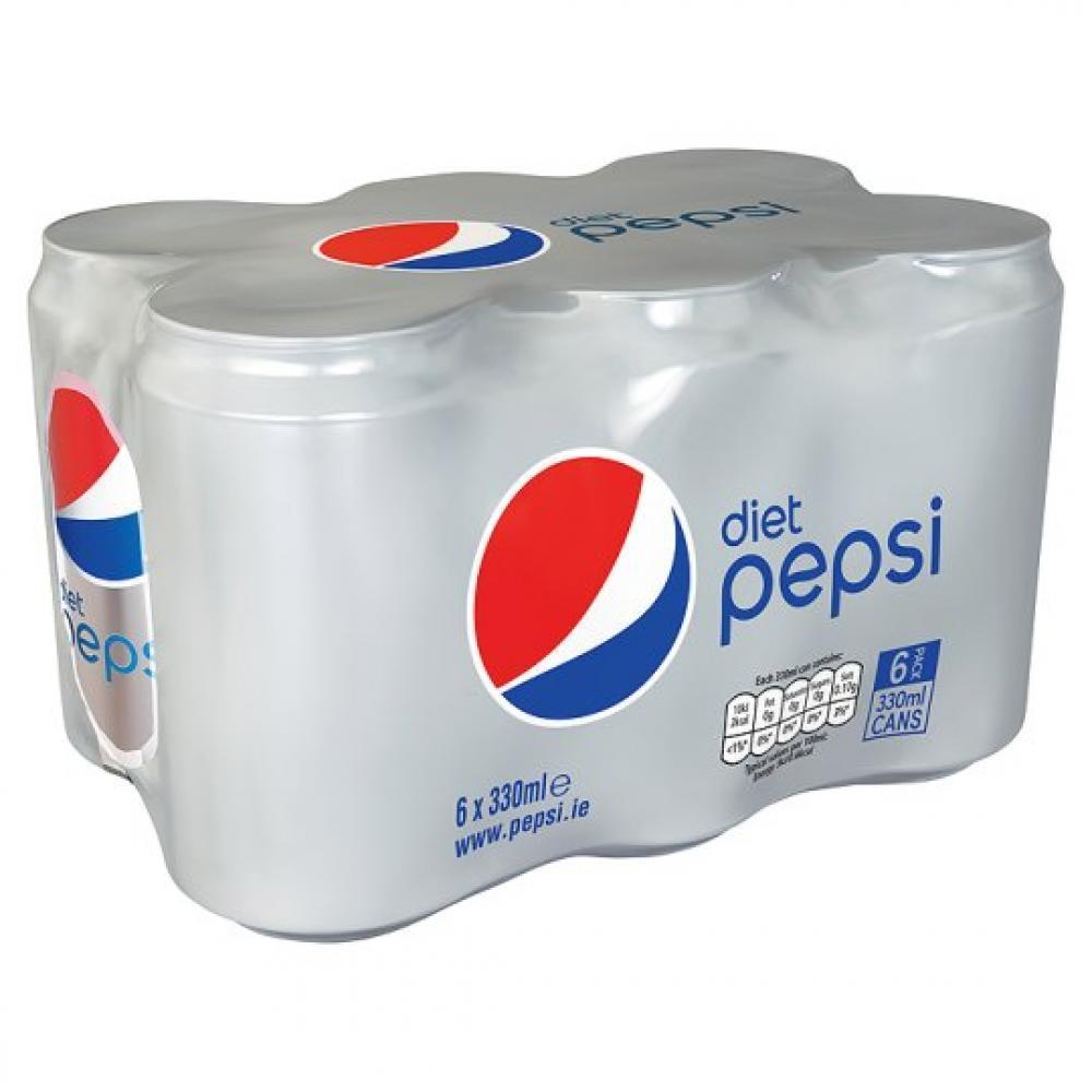 Pepsi Diet 330ml x 6