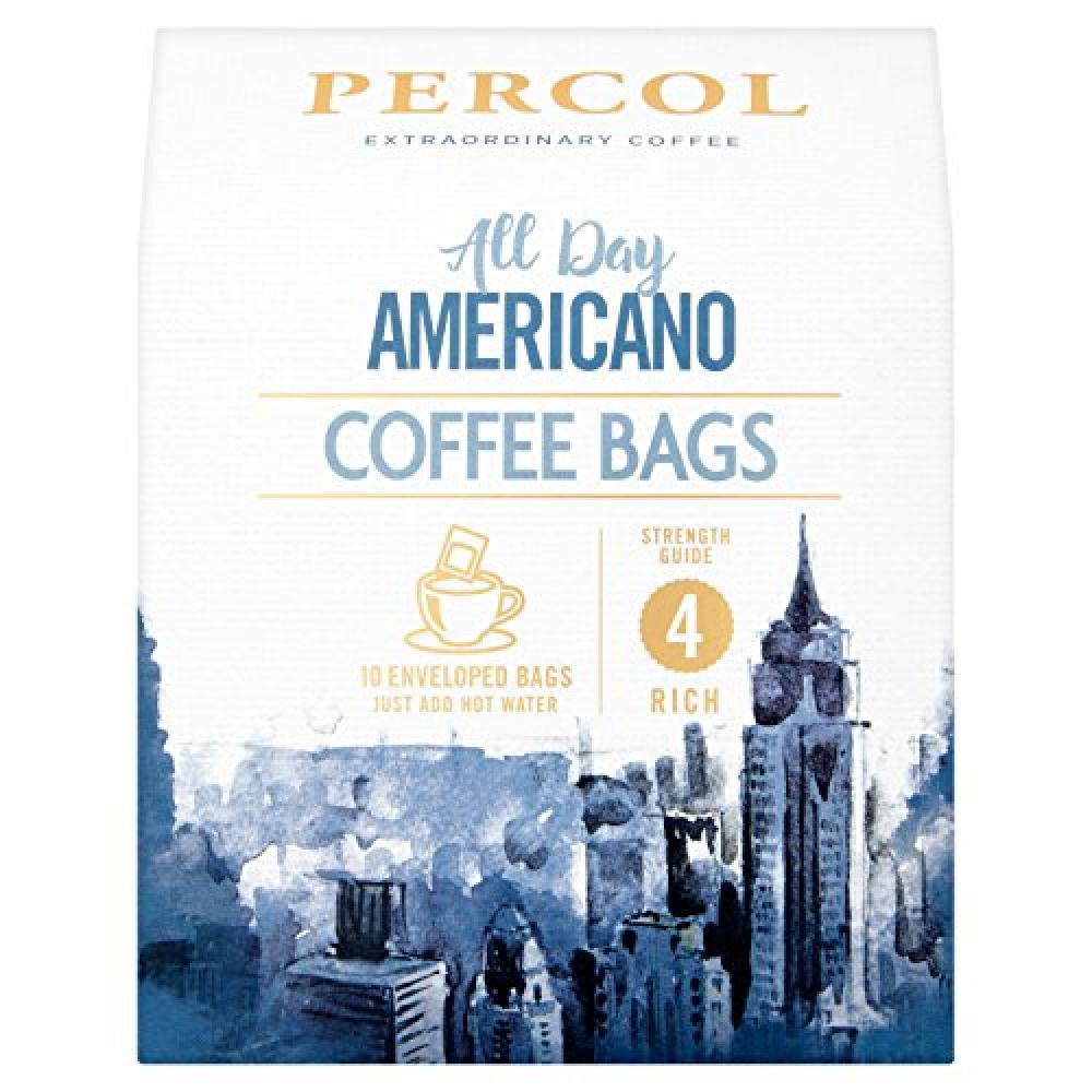 Percol All Day 10 Americano Coffee Bags 80g