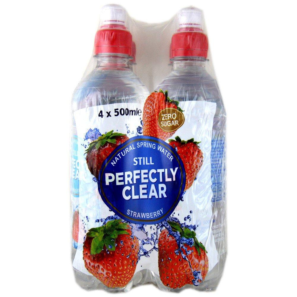 Perfectly Clear Still Strawberry Flavour Spring Water 500ml x 4