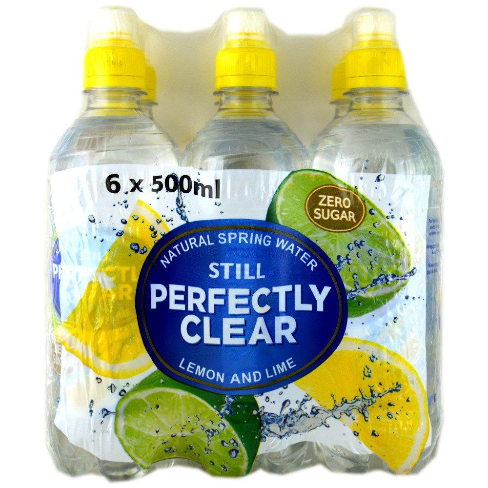 Perfectly Clear Still Lemon and Lime Natural Spring Water 500ml x 6