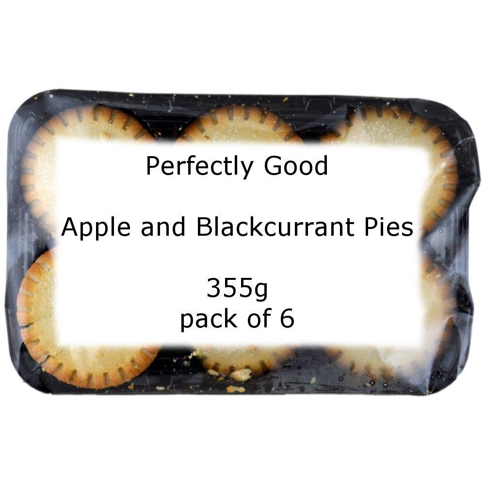 Perfectly Good Apple and Blackcurrant Pies 355g pack of 6