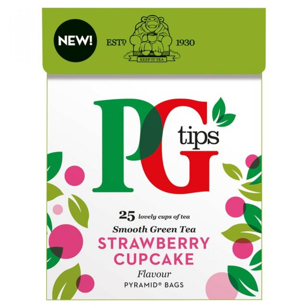 PG Tips Green Tea Strawberry Cupcake 25 tea bags