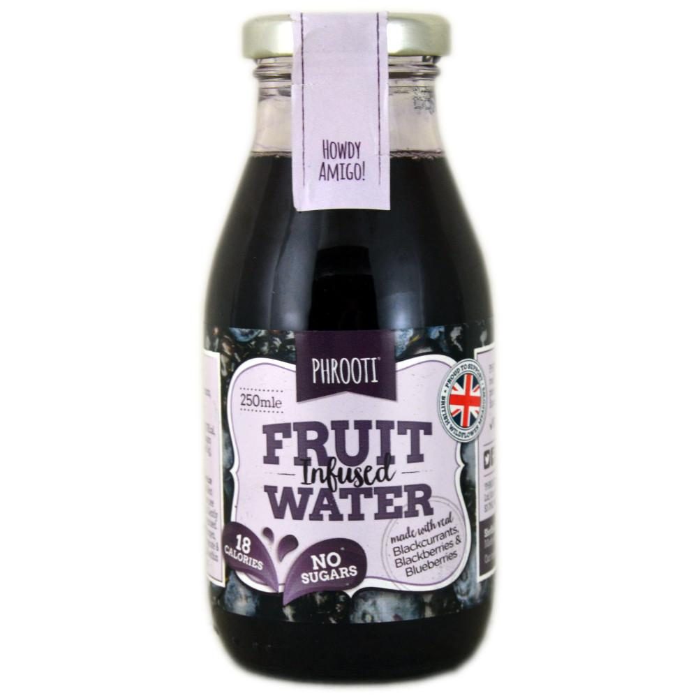 Phrooti Fruit Infused Water Blackcurrants Blackberries and Blueberries 250ml 250ml