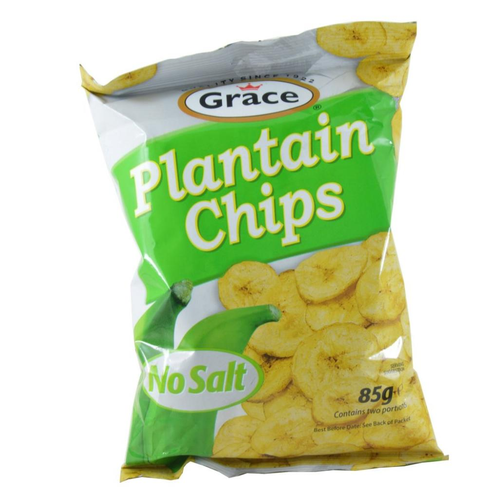 FURTHER REDUCTION  Grace Plantain Chips No Salt 85g