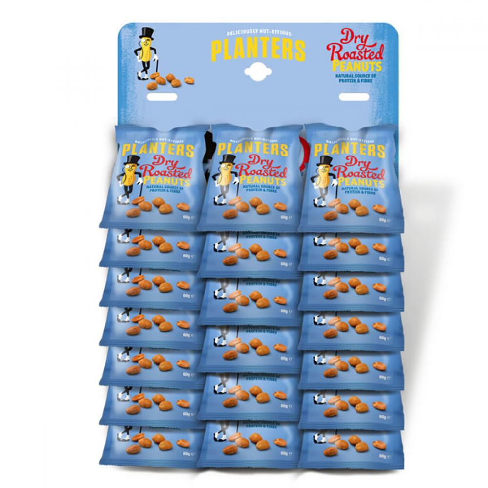 Planters Dry Roasted Peanuts 60g x 20