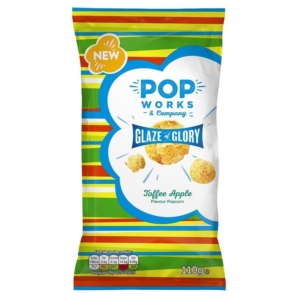 Popworks Toffee and Apple Flavour Popcorn 110g