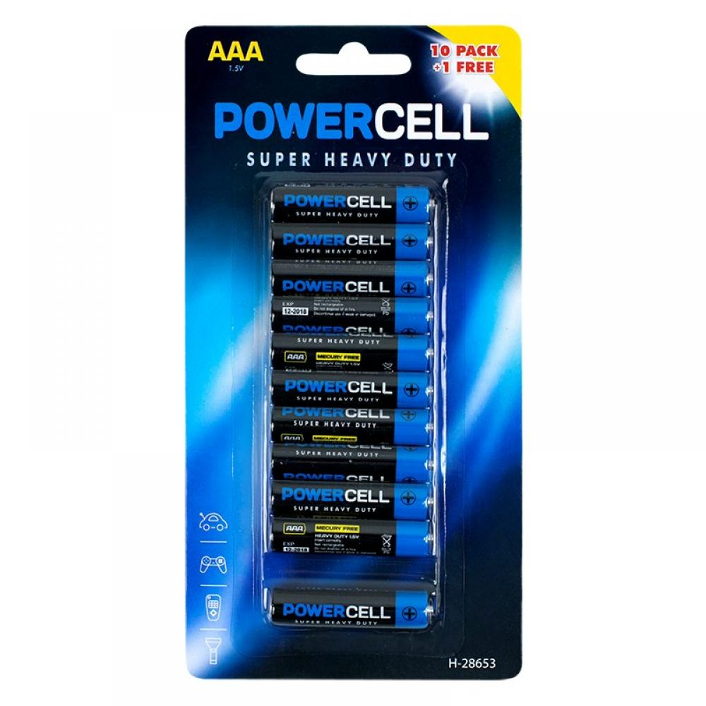 Power Cell Super Heavy Duty AAA Batteries 11 Pack