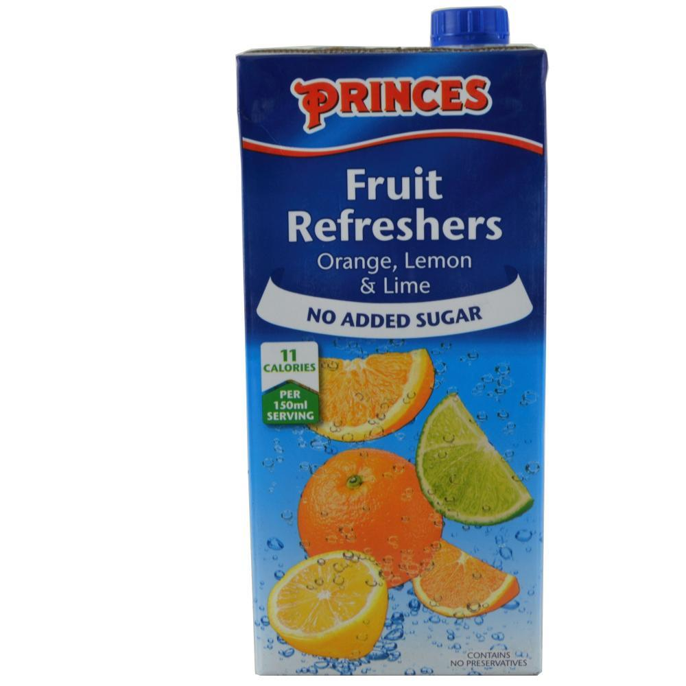 Princes Fruit Refreshers Orange Lemon And Lime 1l