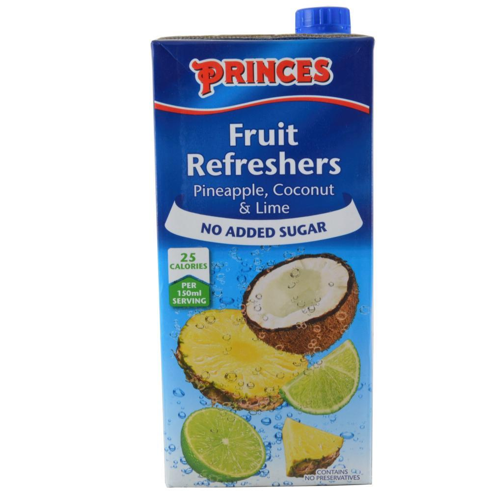 Princes Fruit Refreshers Pineapple Coconut And Lime 1l
