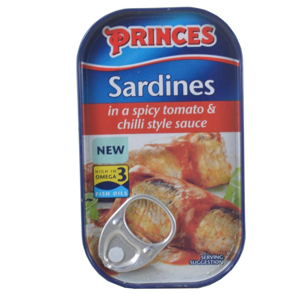 Princes Sardines In A Spicy Tomato And Chilli Style Sauce 120g