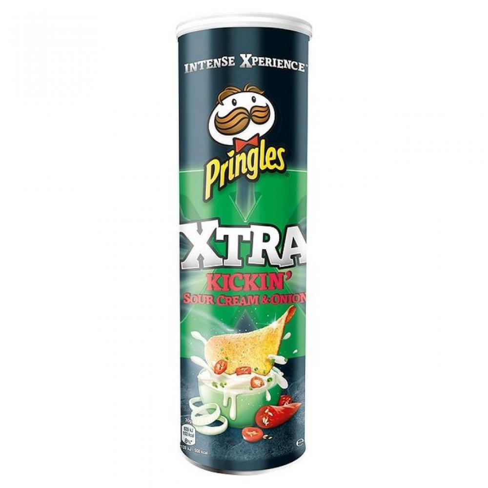 Pringles Xtra Kickin Sour Cream and Onion 150g