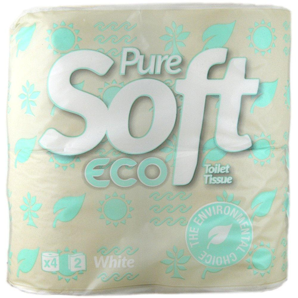 Pure Soft Eco Toilet Tissue 4 rolls