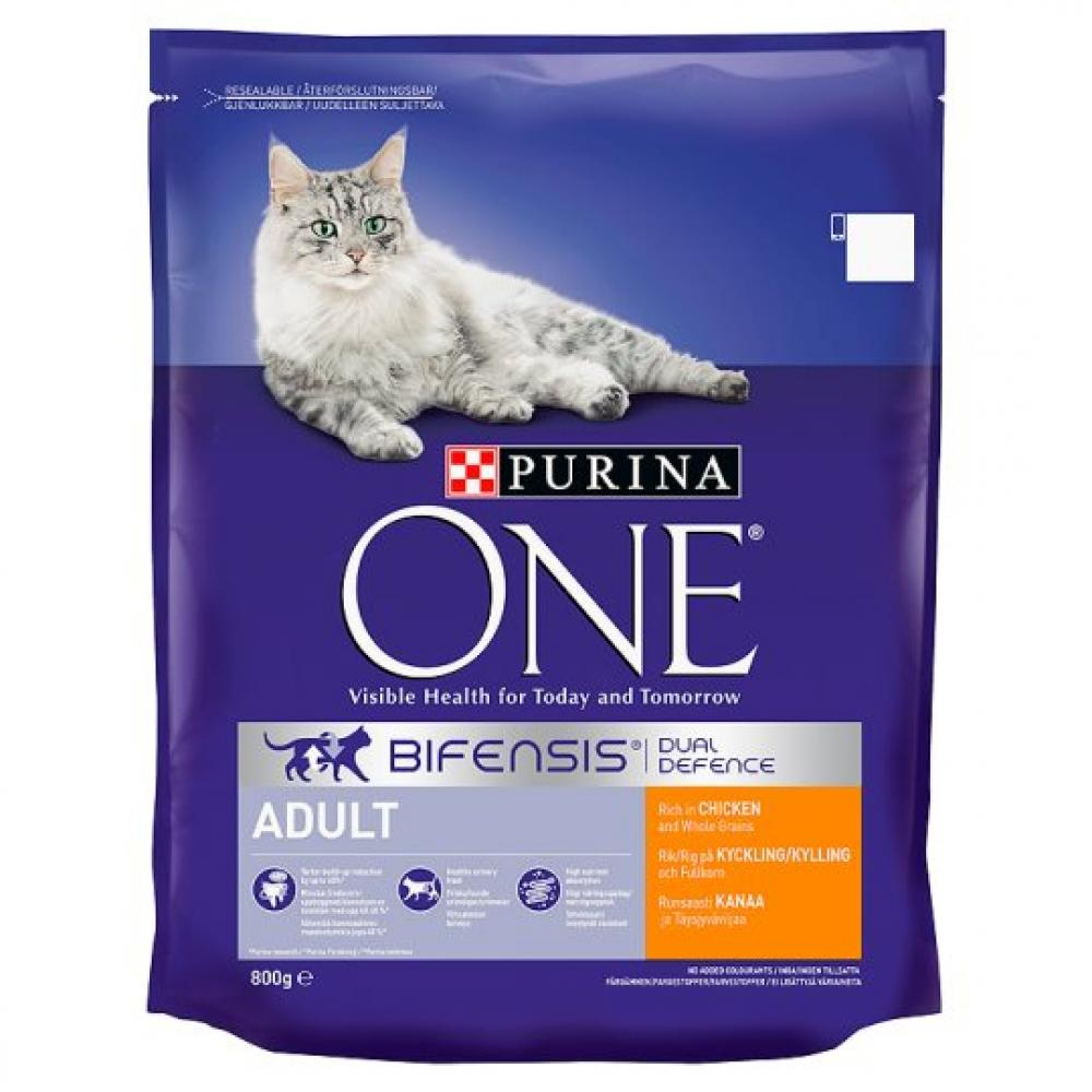 Purina One Adult Chicken and Whole Grains Dry Cat Food 800g