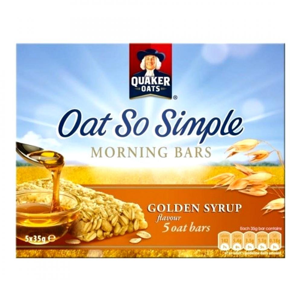 Quaker Oats Oat So Simple Morning Bars Golden Syrup Flavour 35g x 5