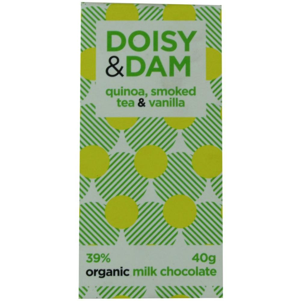 Doisy and Dam Quinoa Smoked Tea and Vanilla Organic Milk Chocolate 40g