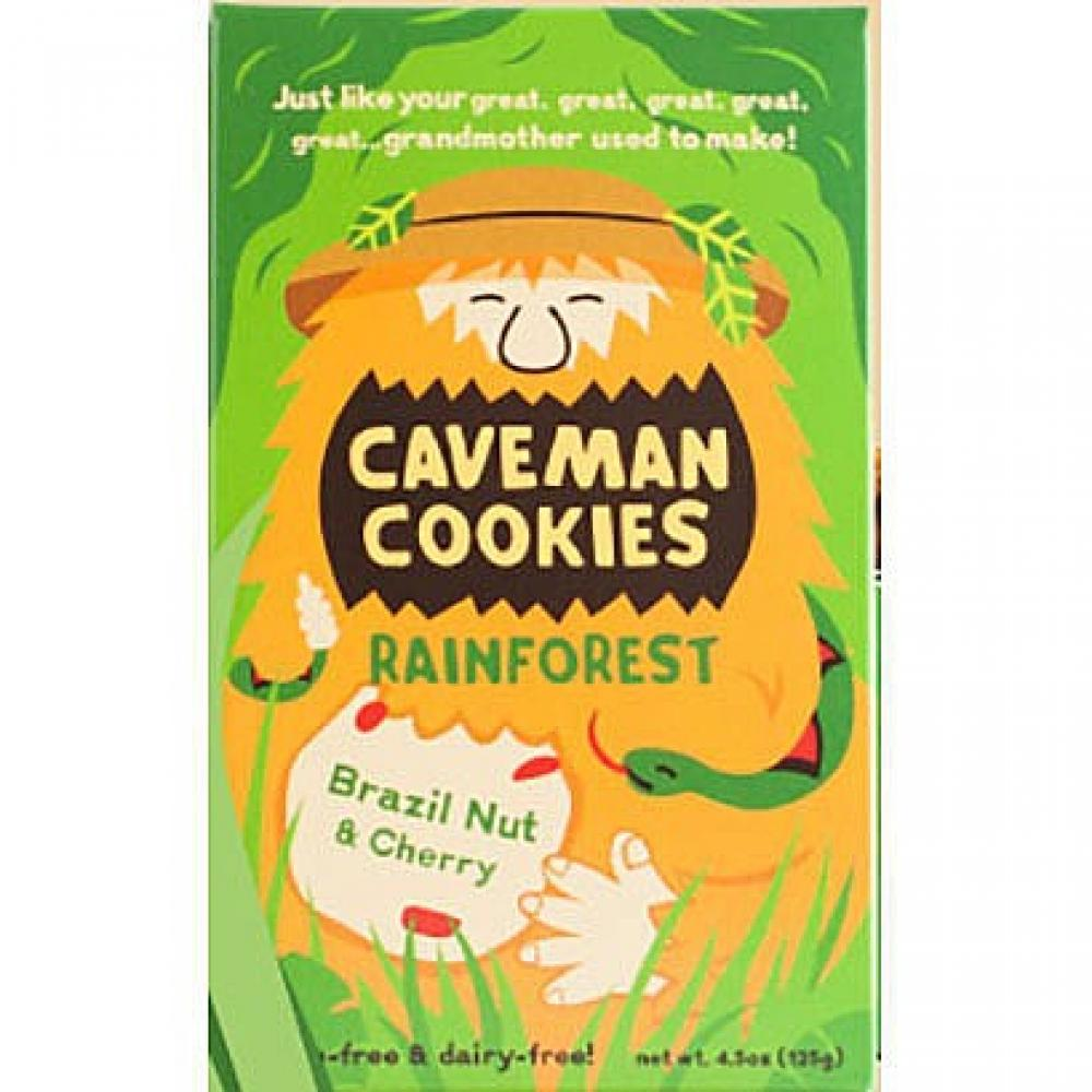 Caveman Cookies Rainforest Brazil Nut and Cherry 125g