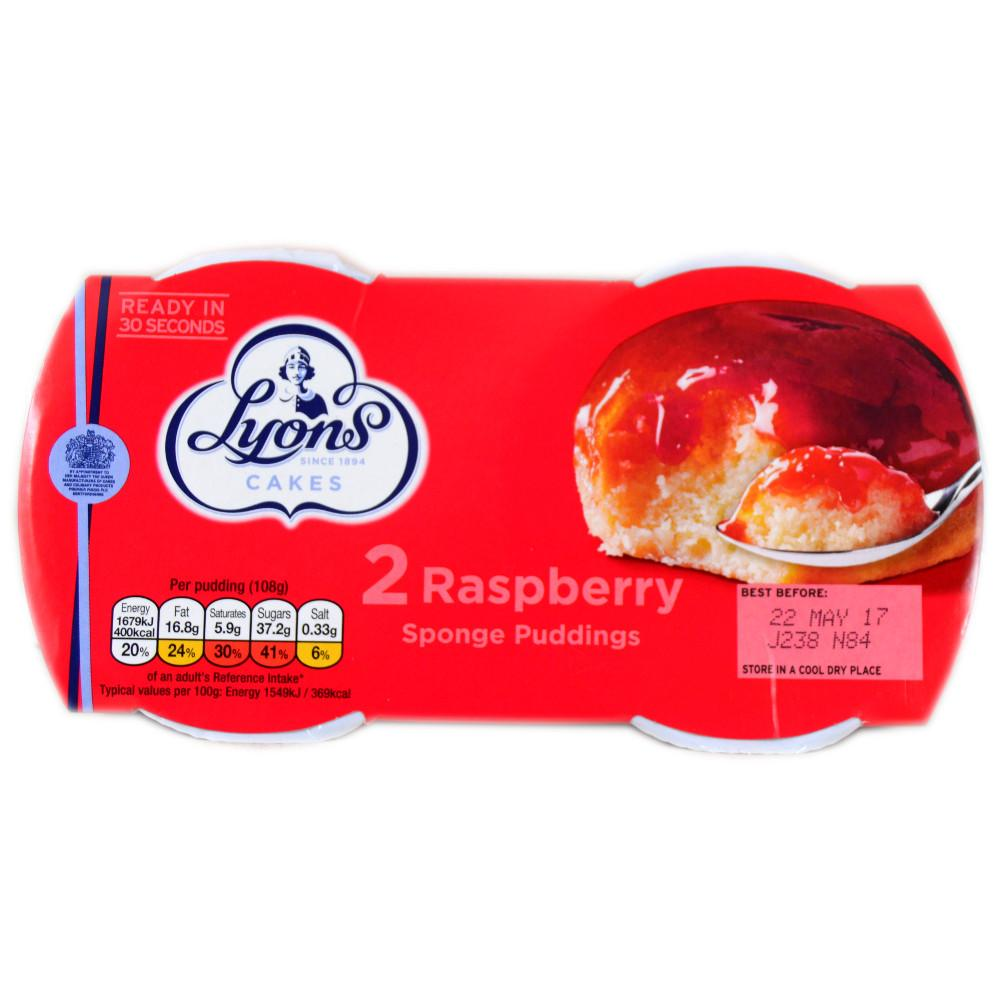 Lyons Raspberry Sponge Puddings 2 x 95g