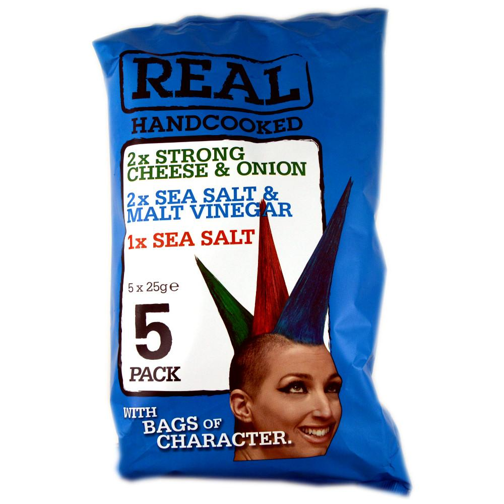 Real Real Handcooked Variety Pack 25g x 5 25g x 5
