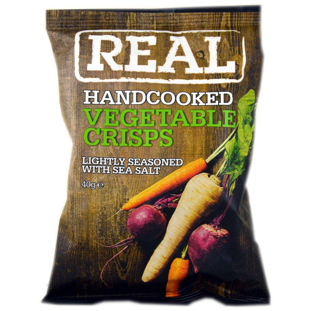 Real Real Real Real Handcooked Vegetable Crisps 40g 40g 40g 40g 40g