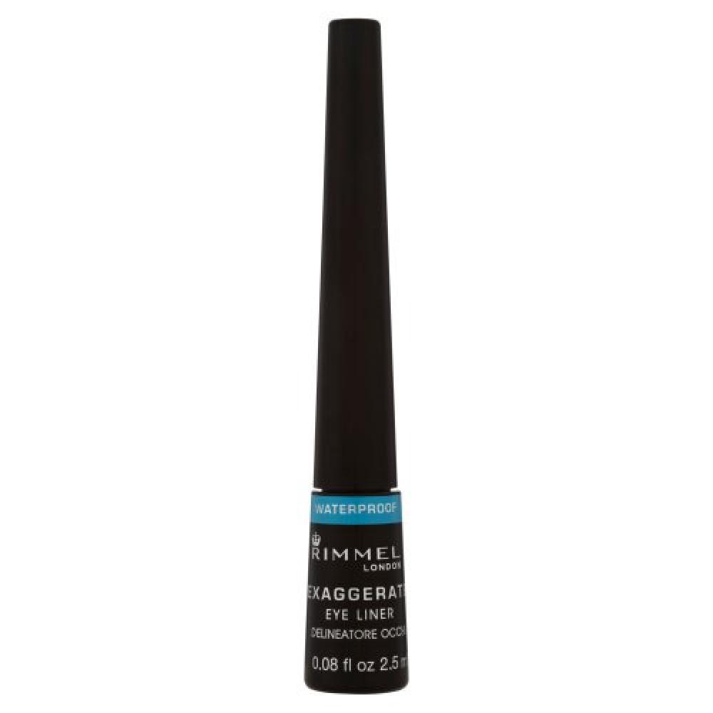 Rimmel Exaggerate Waterproof Liquid Eye Liner Black