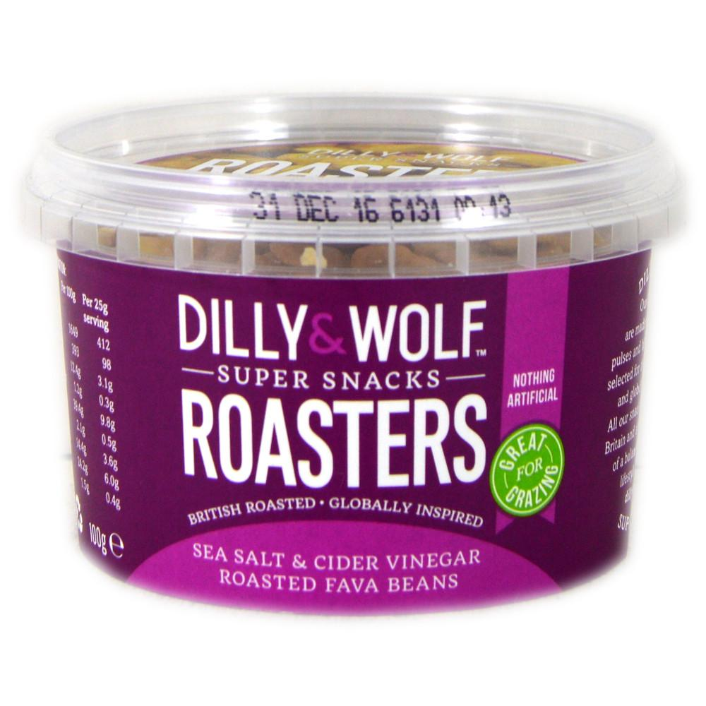 Dilly And Wolf Roasters Sea Salt and Cider Vinegar Roasted Fava Beans 100g