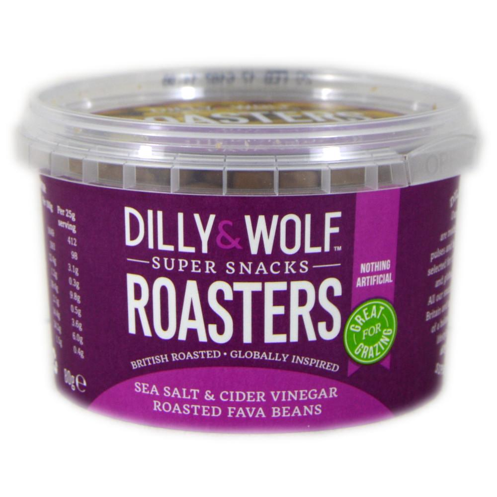 Dilly And Wolf Roasters Sea Salt and Cider Vinegar Roasted Fava Beans 80g
