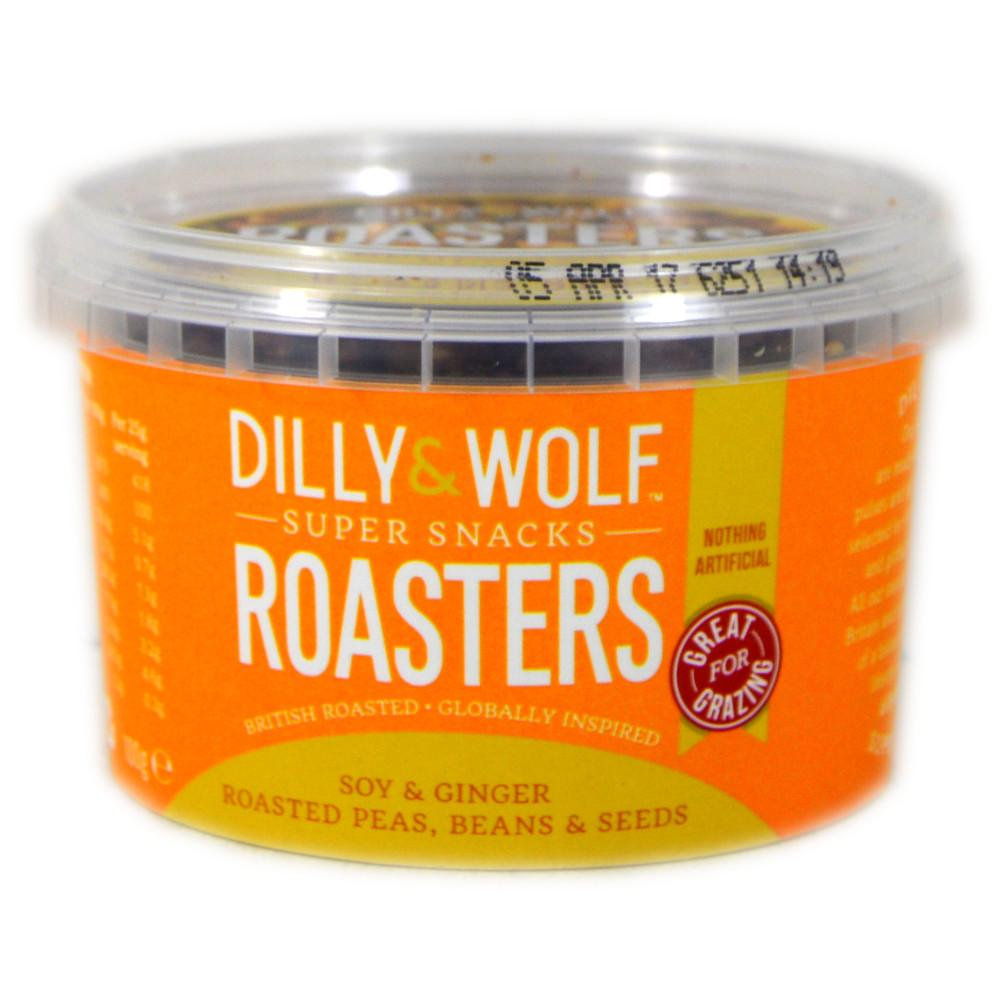 Dilly And Wolf Roasters Soy and Ginger Roasted Peas Beans and Seeds 100g