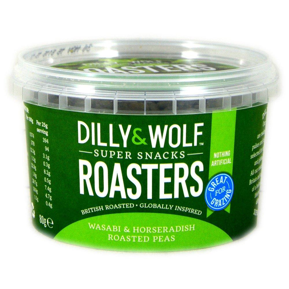 Dilly And Wolf Roasters Wasabi and Horseradish Roasted Peas 80g