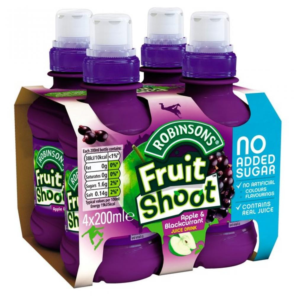 Robinsons Fruit Shoot Apple and Blackcurrant Juice Drink 200ml x 4