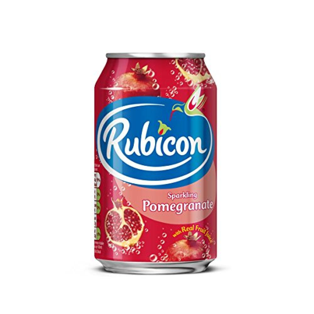 Rubicon Sparkling Pomegranate Juice Drink Cans 330ml
