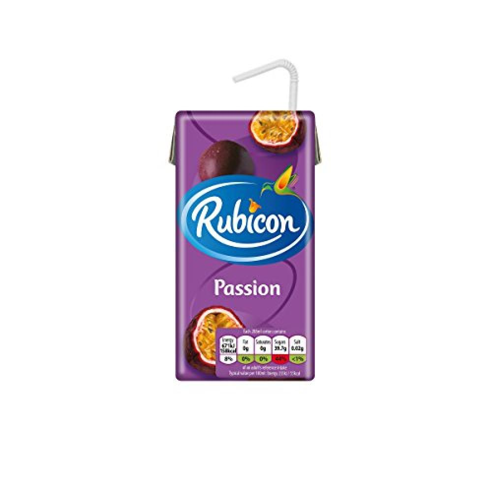 Rubicon Still Passion Fruit Juice Drink Cartons 288ml