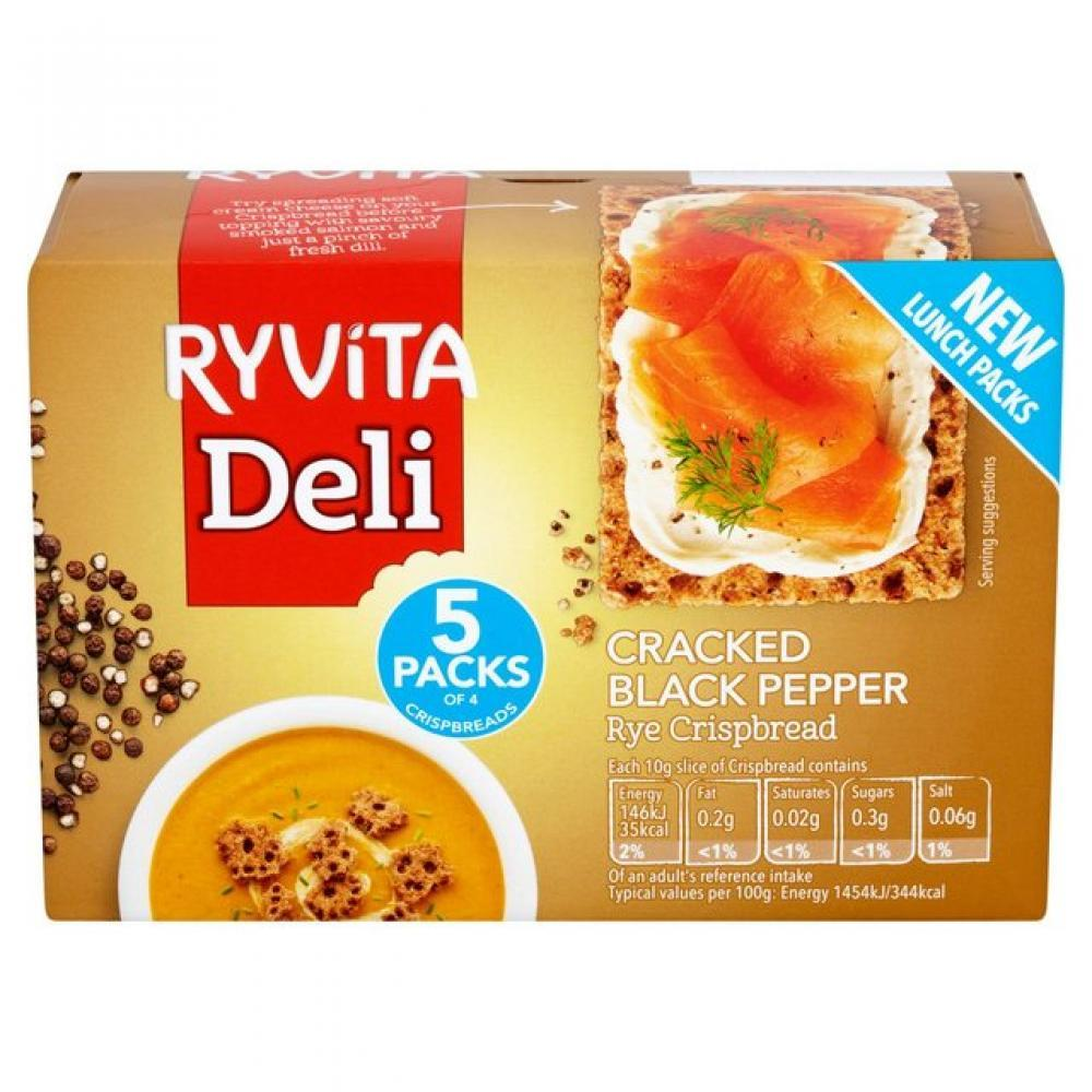 Ryvita Cracked Black Pepper Crispbread 200g