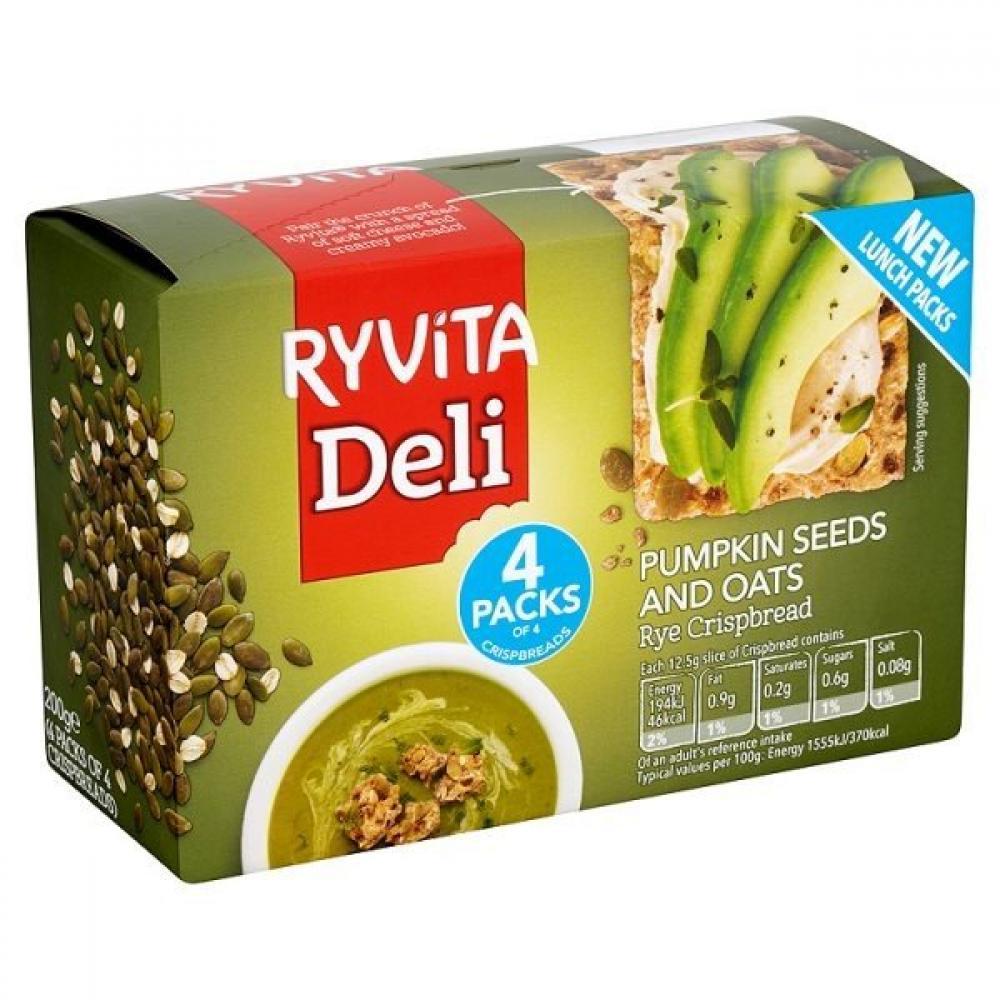 Ryvita Deli Pumpkin Seeds And Oats 200g