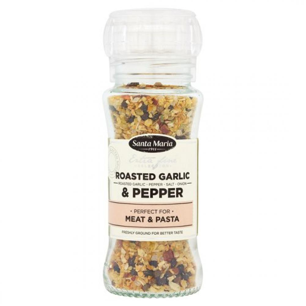 Santa Maria Roasted Garlic And Pepper Grinder 80g