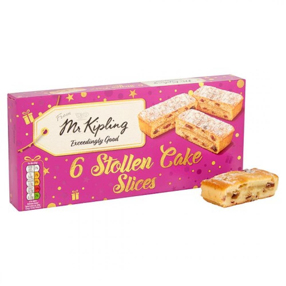 Mr Kipling 6 Stollen Cake Slices