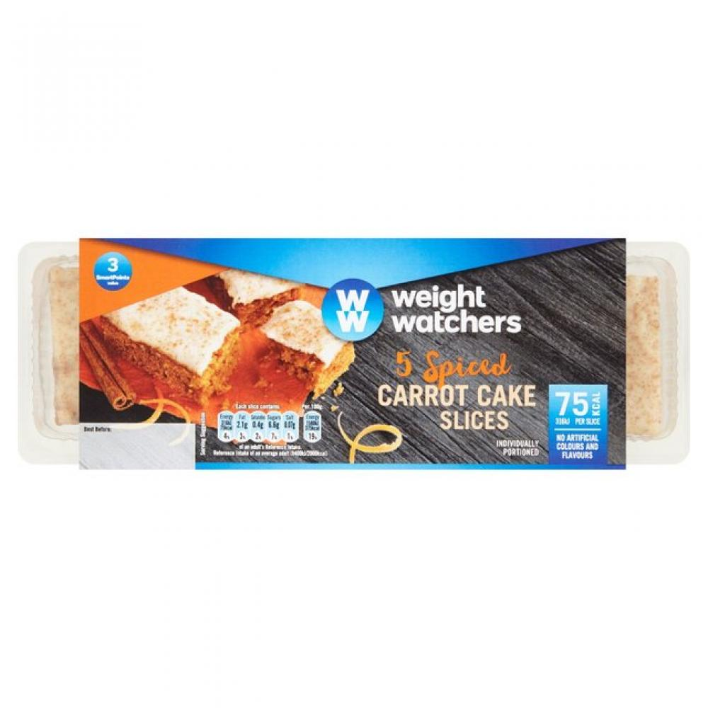 Weightwatchers 5 Spiced Carrot Cake Slices