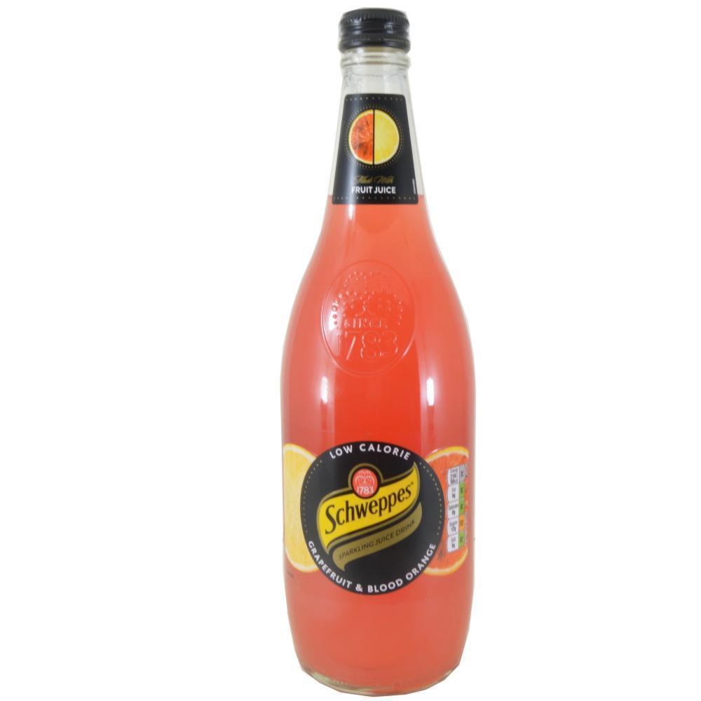 Schweppes Grapefruit and Blood Orange Sparkling Juice Drink 750ml