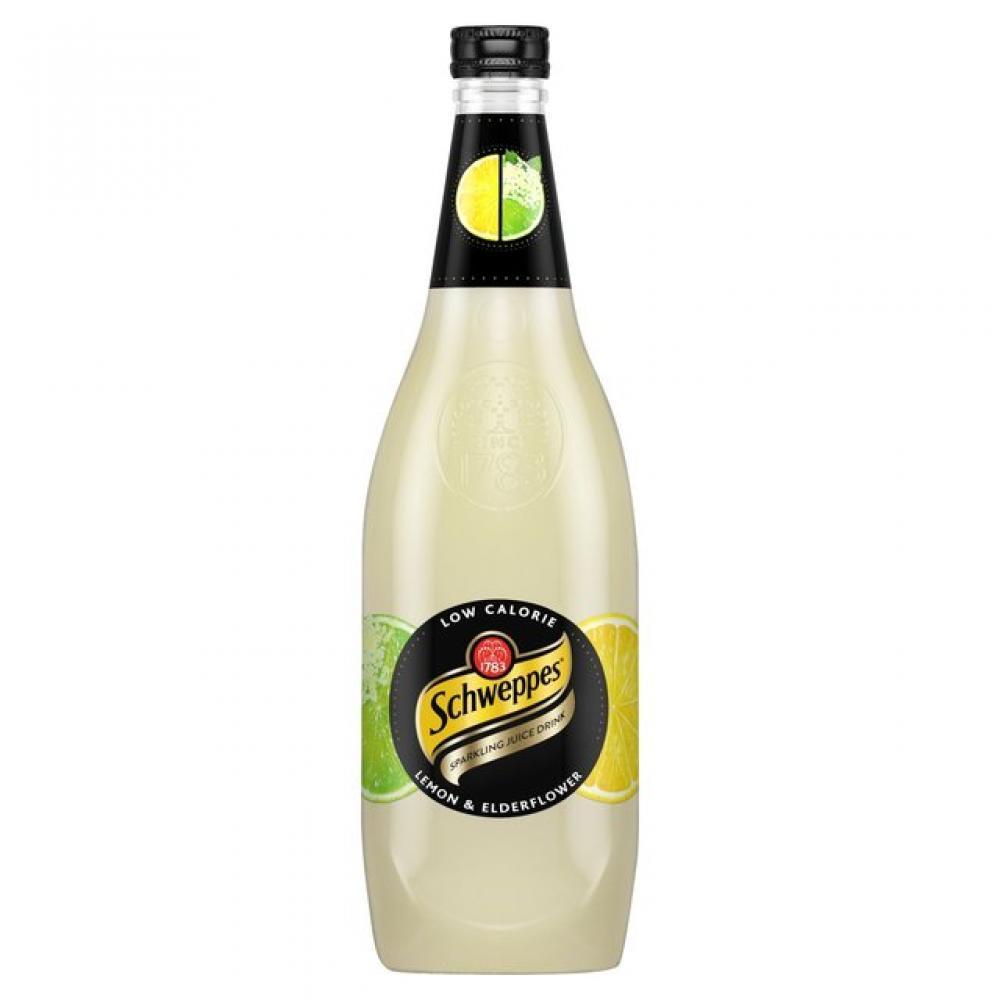 Schweppes Lemon And Elderflower Sparkling Juice Drink 750ml