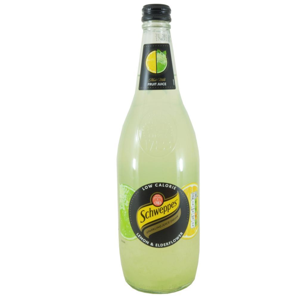 Schweppes Lemon And Elderflower Sparkling Juice Drink 750ml