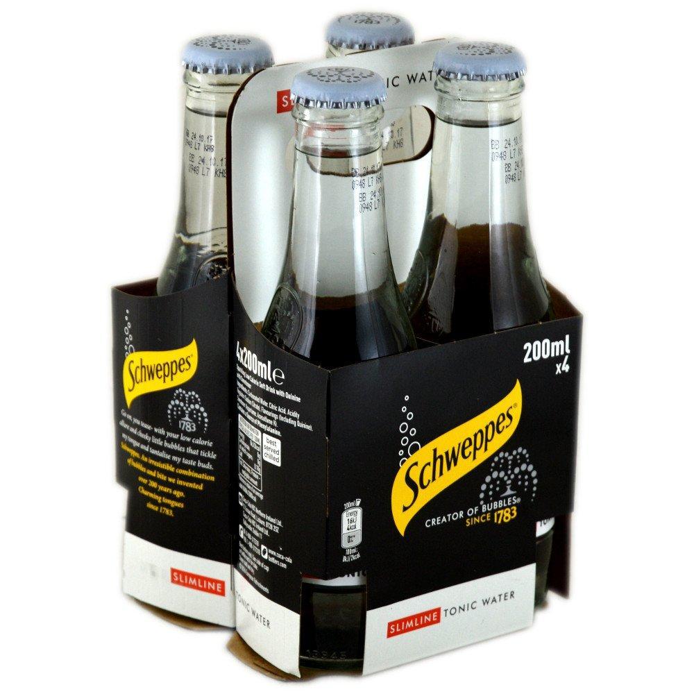 Schweppes Slimline Tonic Water 200ml x 4