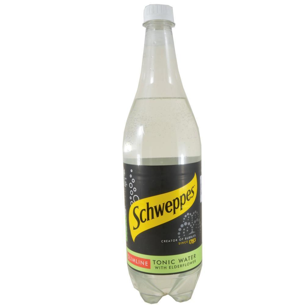 Schweppes Slimline Tonic Water With Elderflower 1 Litre