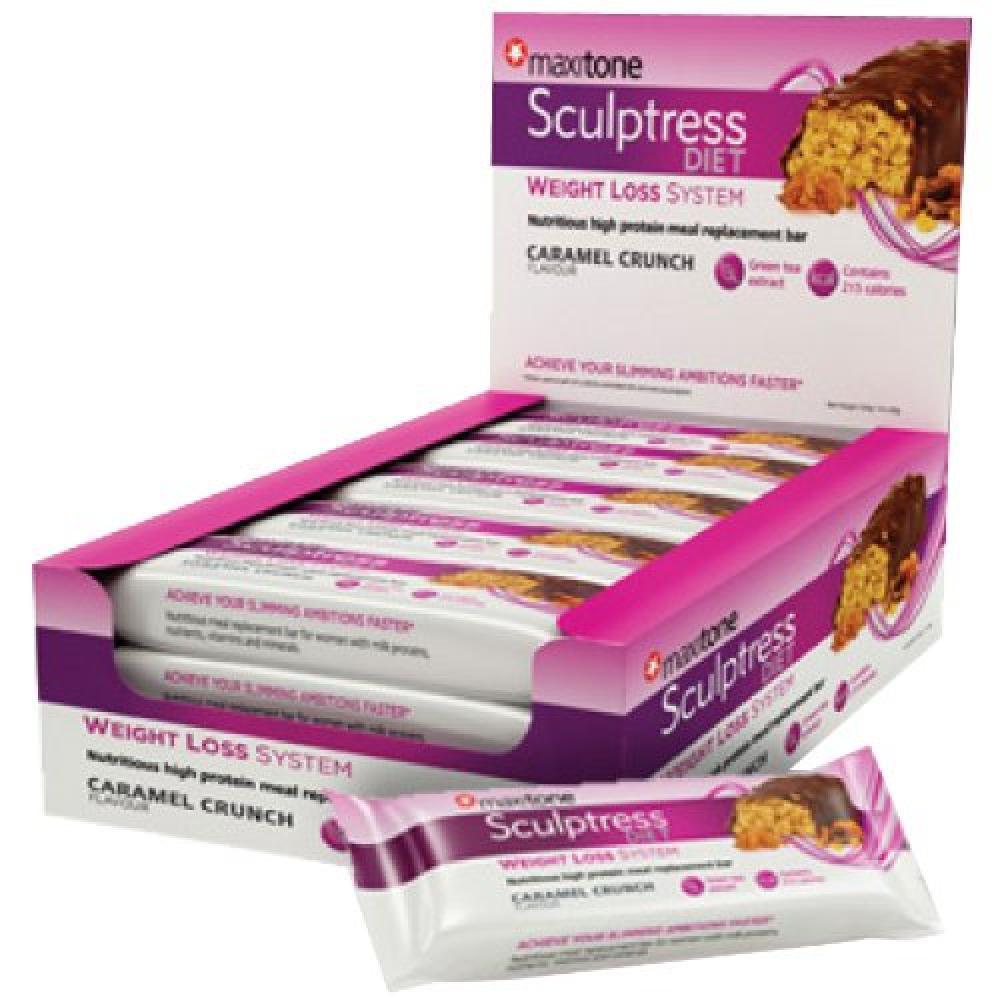 Maxitone Sculptress Diet High Protein Meal Bars - Caramel Crunch 60 g